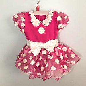 Minnie Mouse Disney Dress Costume 12-18 Months
